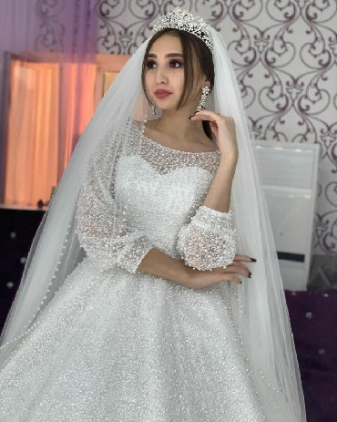 продажа инвалидных колясок в Кыргызстан: Свадебное платье жемчужное полностьюпрокат продажавсе в комплекте