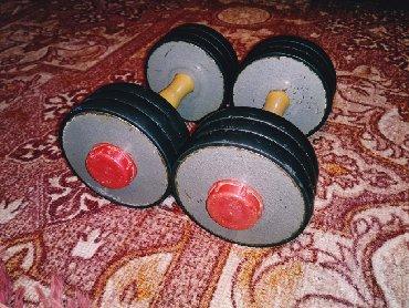 гантели разборные 16 кг в Кыргызстан: Советские разборные гантели по 8 кг каждая,диски по 1.25кг.Вес двух