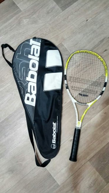 Ракетка большой теннис с глушителем Баболат+чехол+доп обмотка. в Бишкек