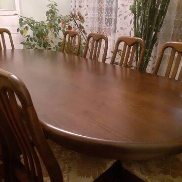 стол для гостиной в Кыргызстан: Практически не пользовались, продаем в связи с переездом, 10 стульев и