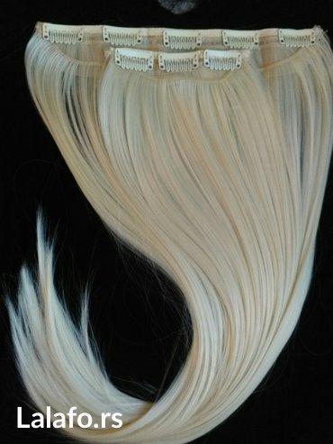 Nadogradnja kose na clipse iz dva dela (8 clipsa). Poluprirodna i - Pancevo