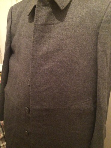 Пальто новые 2шт мужск шерсть+кашемир+лама отл кач фабр(кнр)св-серого  в Бишкек