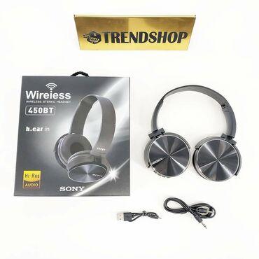 накладные наушники бишкек in Кыргызстан | НАУШНИКИ: ⠀АКЦИЯ!!! Беспроводные наушники Sony Wireless Stereo Headset 450BT со
