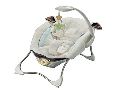 шезлонг с вибрацией в Азербайджан: Лежанка fisher-price -my little lamb infant seat. С успокаивающей