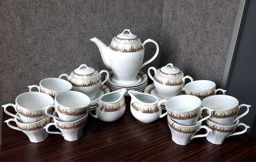 аккумулятор 12 в Азербайджан: Чайный набор. Новый. 12 чашек, 12 блюдечек, 2 сахарницы, 1 чайник, 2