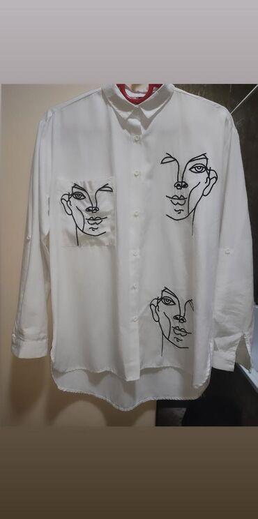 Рубашки и блузы - Кыргызстан: Абсолютно новая рубашка! Размер 46-48. Производство - Турция!