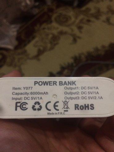 Power bank портативный аккумулятор б/у  6000 mah , 3 разьема в Бишкек