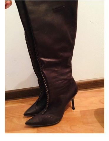 Итальянские кожаные сапоги деми 37 размер в Бишкек