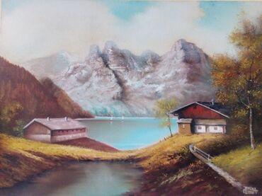 Ostalo | Valjevo: Slika ulje na platnu, dimenzija 54x73.Pejzaž prirode u jesen