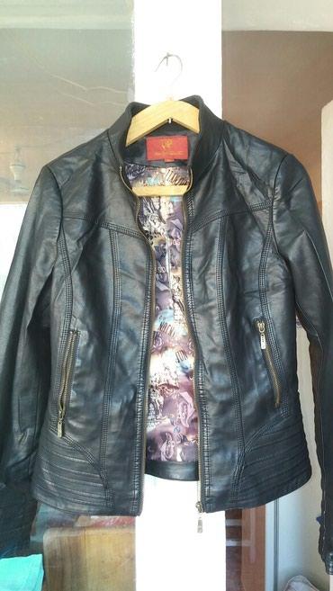 Женская кожанная куртка ,состояние отличное,размер 44-46 в Бишкек