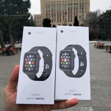 ağ sandallar - Azərbaycan: Apple whact dizyanli Orginal Hoco GA09 Ağıllı Saat - 44mmBluetooth
