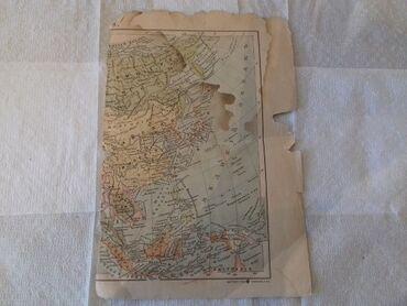 dunya kartasi - Azərbaycan: Qədimi dunya xəritəsinin bir hissəsi