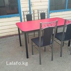 стол с двумя стульями в Кыргызстан: Продаю обеденный стол 120*80, стул