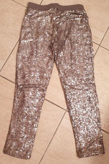 ZARA helanke pantalone sa sljokicama. Srebrne. Elegantne i svecane. Za
