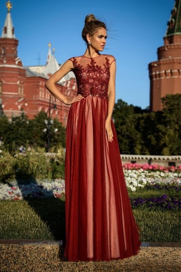 бордовый замшевый в Кыргызстан: Платье Вечернее DolceGabbana S