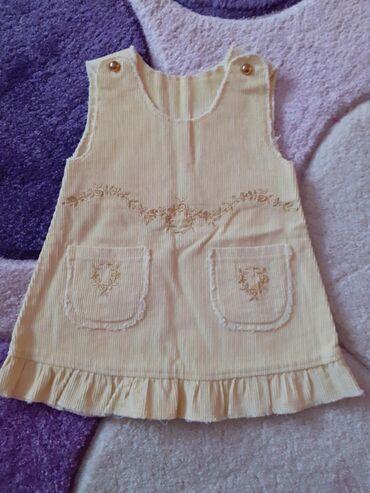 Ostala dečija odeća | Kovilj: Zuta somot haljina ocuvana za uzrast od 6 meseci!