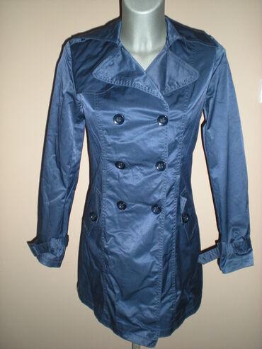 Kišni kaputi - Srbija: TEGET MANTIL  Predivan teget mantil S veličine. Krojen tako da divno p