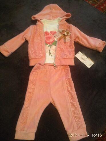 Детский мир - Чон-Арык: Продается детский костюмчик на девочку турецкий новый велюровый