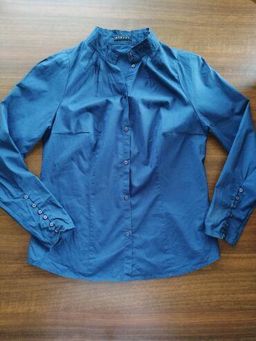 Sisley рубашка размер S, тонкий хлопок в идеальном состоянии