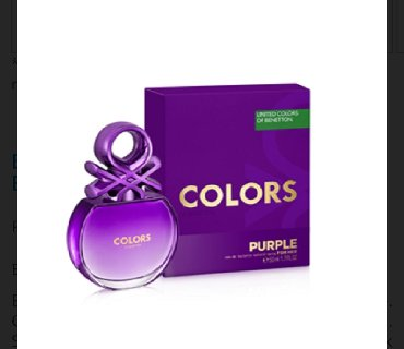 Za-kom-zenski - Srbija: Benetton Colors Purple Original zenski parfem 50ml◇ cvetni miris za