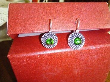 Prodajem naušnice sa tamno zelenim okom, kupljene u h&m, nove su - Leskovac