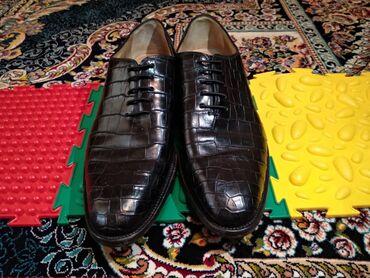 Профнастил 0 45 цена - Кыргызстан: Мужские туфли. Фирма Китон (крокодиловая кожа )черного цвета б/у Состо
