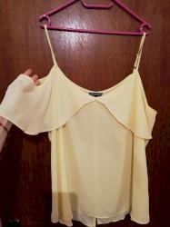 Ženska odeća | Nova Pazova: Nova prelepa žuta bluza. Lagana, rukavi i gola ramena. Velicina XL