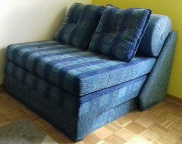 Ostali | Srbija: Рasklopiva fotelja-krevet, 1mx1m, visine do 40cm, odlicno ocuvana