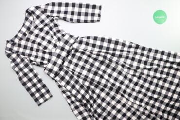 Жіноча сукня максі у клітинку з паском, р. L    Довжина: 130 см Ширина