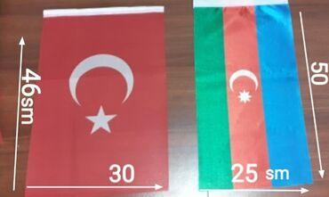 41 elan   BAYRAQLAR: Salam Azəri və Türk Bayraqlar satılır Azəri - bayr ölçü 50x25 Türk - b