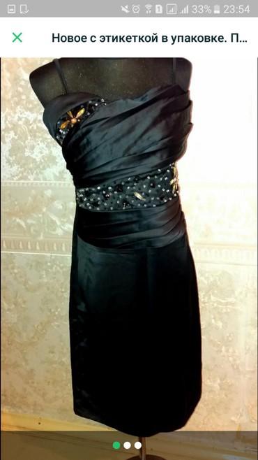 Платье чёрного цвета в области лифа в Бишкек