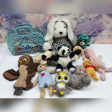 """Детские мягкие игрушки + набор """"доктор"""" в корзинке"""