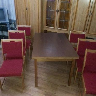 Комплект стол и 6 стульев. От германского гарнитура. Стол раздвижной