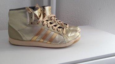 Zlatne baletamke - Srbija: Adidas patike poluduboke zlatne boje velicina nosene malo,velicina 37