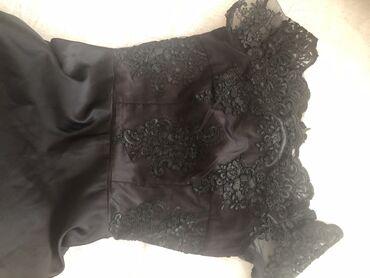 белое шифоновое платье в пол в Кыргызстан: Цена снижена!!!Красивое платье в пол черного цвета )длинное.Очень