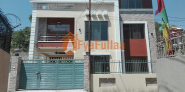 A new flat system house having land area 0-4-0-2 of 2.5 floors, facing in Kathmandu