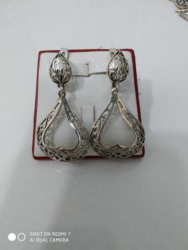 Серьги серебро 925 пробы, цена 580 сом