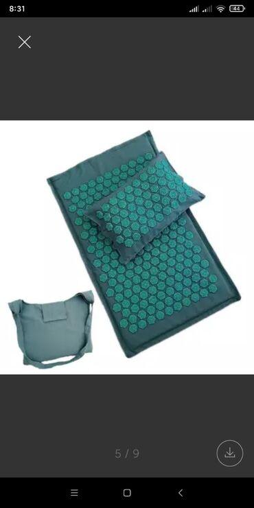 Йога коврик с шипами, аналог праномат, аппликатор кузнецова.Размеры по