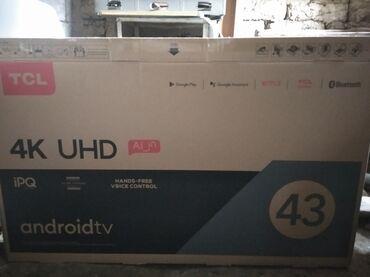 Срочно продаю, Android Tv голосовой, блютз, гоогл, 4К, новый телевиз