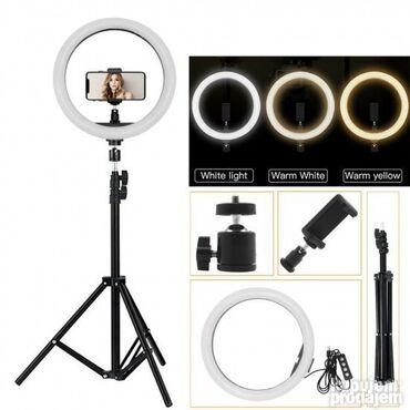 6023 oglasa | ELEKTRONIKA: LED Ring sa stalkom- SVETLO Za SLIKANJE I Šminknje 30cm     Cena = 25