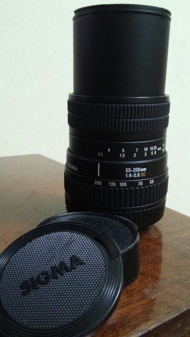 Объектив SIGMA 55-200 для Canon. Состояние как новый. Цена 200 usd в Бишкек