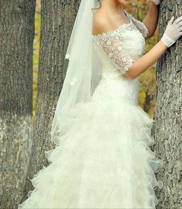 Дам в аренду свадебное платье,  сшитое в Бишкек - фото 3
