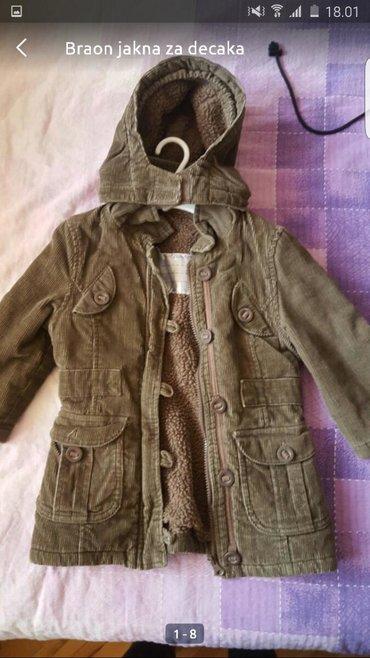 Dečija odeća i obuća | Pozarevac: Jakna za decaka Somot, braon Vel.3-5