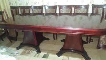 Продаю стол с 15ю стульями в складном состоянии 2 метра в длинну а