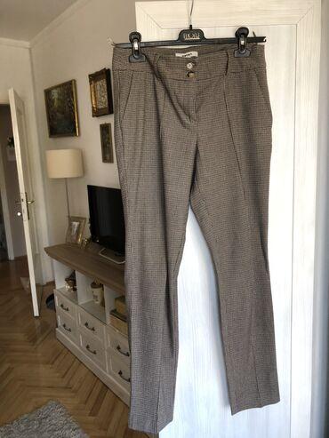 Pantalone velicina m - Srbija: NOVE, KOTON braon pantalone. M velicina. PRELEPE. Karirane. Placene
