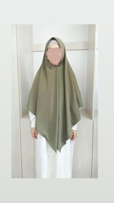 дубайские платья в Кыргызстан: Идеальный, большой платок в цвете хаки  Размер:1.5/1.5  Ткань: Дубайск