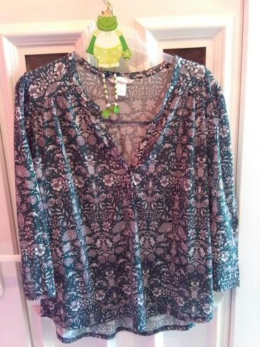 Bluze zavkrupnije dame ,zelena I  plava,rastezljiv materija - Sombor - slika 2