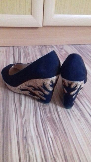 Platforma cipele broj - Srbija: Cipele sa prelepom platformom, 37 br, nošena jednom, (velike mi, nosim