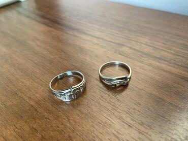 Кольца из серебра 925 пробы. Размер 15-16. Цена по 100 сом