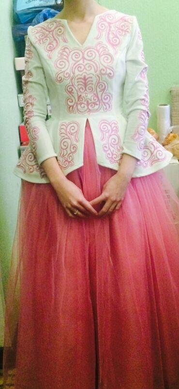 роскошное вечернее платье в Кыргызстан: Национальное платье на Кыз узату. Одевала один раз